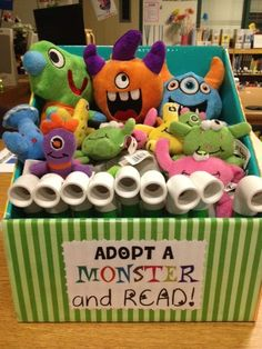"""Or use other stuffed animals and title this """"Read with a Friend""""."""