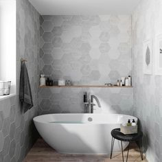 Small Bathroom Renovations 551198441884709769 - carrelage hexagonal Source by mariemajik Bathroom Trends, Bathroom Spa, Bathroom Layout, Bathroom Interior Design, Bathroom Renovations, Bathroom Faucets, Modern Bathroom Design, Bathroom Storage, Nature Bathroom