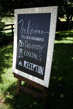 Custom Wedding Signs Welcome Chalkboard by MySteelMagnolia on Etsy