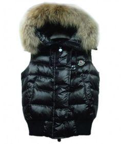 Moncler Tarn Womens Down Vest Rabbit Hats Zip Black http://www.onlakemac.com/moncler-vests-women.html