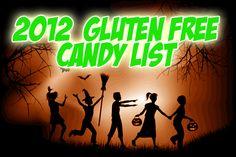 2012 Gluten Free Halloween Candy List