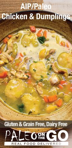 AIP Chicken And Dumplings -Completely Grain-Free and Paleo!