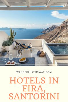 9 Beautiful Hotels in Fira, Santorini - Wanderlust, My Way Fira Santorini, Mykonos Greece, Crete Greece, Athens Greece, Beautiful Pools, Beautiful Islands, European Destination, European Travel, Honeymoon Destinations