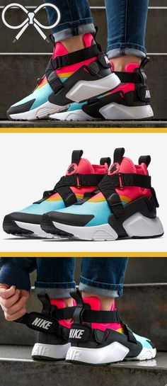 official photos 36925 331f1 Blue, pink, and yellow women s sneakers from Nike.