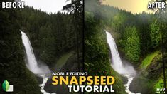 In this Snapseed tutorial, various tools including Curves and Brush tools with masking were used to give the landscape a vibrant with foggy look. Snapseed Tutorial, Follow Me On Instagram, Spanish, Waterfall, Vibrant Colors, Landscapes, Android, Tools, Iphone