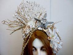 Mermaid Man, Mermaid Crown, Mermaid Headpiece, Coral Design, Fantasy Mermaids, Starfish, Seashell Crown, Seashells, Shell Crafts