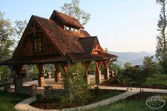 #timberpergola overlooking the mountains