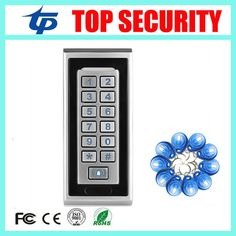 IP65 waterproof door access control system 125KHZ RFID card led keypad standalone access controller 8000 users card reader