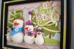 snow snowmen snowfamily winter holiday christmas frosty home decor cricut diy