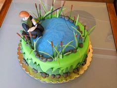 Witajcie do kompletu zaproszeń na 60-tkę powstał tort z wędkarzem oraz bon podarunkowy :) Solenizant zebrał dużo prezencików i był zadowolon...