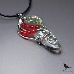 Kyvadlo života (Křišťál, Jadeit+Olivín)-náhrdelník