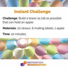 Steam Activities, Team Building Activities, Destination Imagination Instant Challenge, After School, School Days, Odyssey Of The Mind, Science Classroom, Classroom Ideas, Stem Challenges
