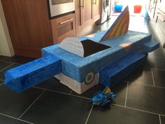 Just a little Octonauts project! Built from cardboard, then a layer of paper and PVA, followed by some painting. Hours of fun!!