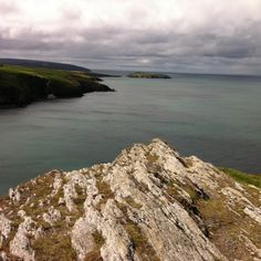 View from the Mwnt towards Cardigan Island, Wales