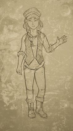 Parvin -- First piece of fan art (08.21.14) by Angel Roman, http://angelroman.org/ #ATime2Die #NadineBrandes