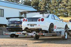 because... race cars :) Toyota Supra and Nissan Skyline GTR R34