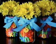 Cute Teacher Appreciation Week Centerpieces