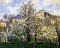 Camille Pissarro, Primavera, Blossom in Pontoise, 1877