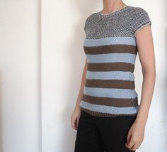 This is a simple to knit top-down seamless circular yoke sweater.