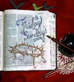 What You Make It: Illuminated Journaling: It's Friday...But Sunday's Coming.  Beautiful illustration.