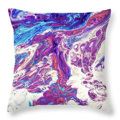 """Far Galaxies 5. Abstract Fluid Acrylic Painting Throw Pillow by Jenny Rainbow. Our throw pillows are made from 100% spun polyester poplin fabric and add a stylish statement to any room. Pillows are available in sizes from 14"""" x 14"""" up to 26"""" x 26"""". Each pillow is printed on both sides (same image) and includes a concealed zipper and removable insert (if selected) for easy cleaning. Designer Pillow, Pillow Design, Galaxy 5, Floor Pillows, Throw Pillows, 5 Image, Fluid Acrylics, Pillow Sale, Poplin Fabric"""