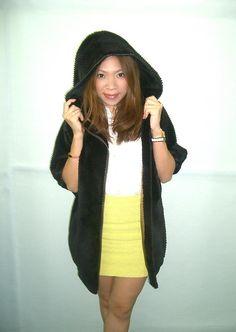 Brown sheared mink grooved design parka jacket. See more fur/leather coats at www.fur99.com !