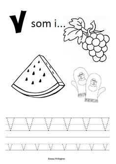 Namnlös Letter Tracing Worksheets, Tracing Letters, Diy For Kids, Cool Kids, Coloring For Kids, Homeschool, Classroom, Lettering, Teaching