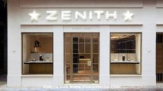 Zenith Boutique in Hong Kong on Presentwatch Jewelry Shop, Hong Kong, Facade, Garage Doors, Exterior, Outdoor Decor, Luxury Watches, Beijing, Boutiques