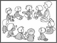 Vamos a explicar cómo es un día de clase con sus momentos, desde que entramos al cole hasta que nos vamos a casa. ... Arte Elemental, Bible Crafts For Kids, Rainy Day Activities, Norman, Drawing For Kids, Elementary Art, Coloring Pages, Fairy Tales, Kindergarten