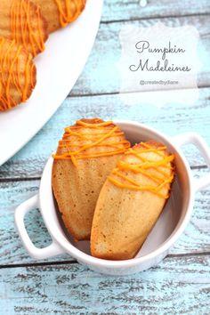 Pumpkin Madeleines @createdbydiane.jpg #pumpkindessert #pumpkinrecipe #madeleinerecipe