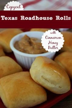 My husband loves going to Texas Roadhouse. I'm usually pretty agreeable about going, but for one main reason -I cannot get enough of their rolls and honey butter!  Now I have a way to enjoy them at home...
