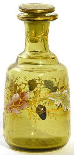 Perfume Bottle; Moser Glass