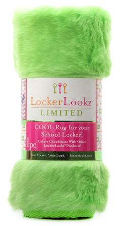 Green Plush Faux Fur Locker Rug: Design Your Locker From The Ceiling To The  Floor