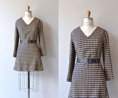 Double Time dress  houndstooth 1960s mini dress  by DearGolden