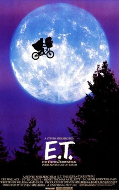1982: E.T.  Other posters included the iconic 'finger touching' scene, but this version was mesmerizing beyond belief.