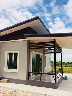 Exterior De Casas Decoracion Ideas For 2019 Modern Bungalow House, Modern House Plans, Small House Plans, Minimal House Design, Simple House Design, House Floor Design, Tiny House Design, Exterior House Colors, Exterior Design
