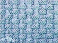 Alternating knit and purl stitches created this richly textured pattern - http://www.knittingstitchpatterns.com/2014/08/pie-crust-basketweave.html