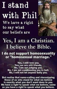 Duck dynasty phil quote homosexual