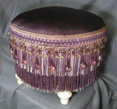 $199 Purple Foot Stool #gypsy #bohemian #decor