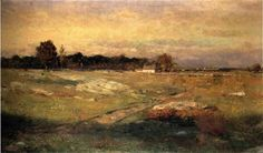 Dwight William Tryon, American Tonalist, Dartmouth Moorland, oil on canvas