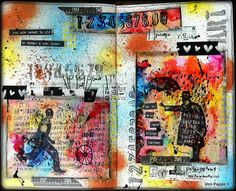 Von Pappe II: Art Journaling with Yupo, Alcohol Ink, Washi Tape and Distress Crayons