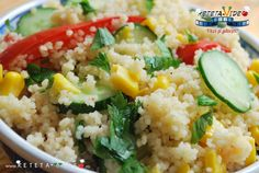 SALATA DE CUSCUS CU LEGUME Fried Rice, Risotto, Fries, Ethnic Recipes, Mai, Food, Youtube, Salads, Meals