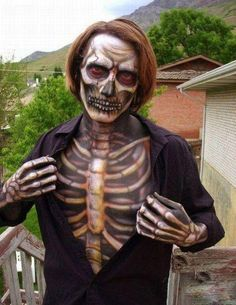 A Realistic Skeleton Costume