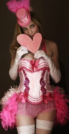 Pink burlesque costume