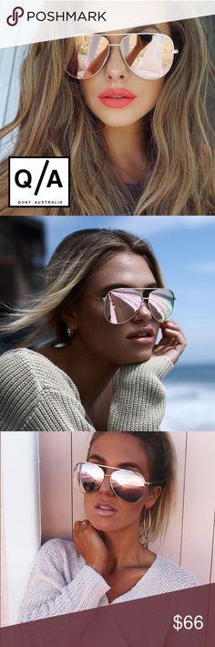 NWT Quay Vivienne Aviator Mirrored sunglasses ➖NWT ➖BRAND: Quay Australia  ➖STYLE: Vivienne oversized aviators sunglasses in rose gold : see last photo for details.   ❌ NO TRADE  Entropycat Quay Australia Accessories Sunglasses