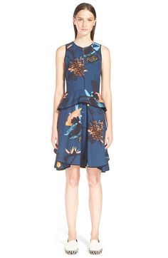 Proenza Schouler Tropical Print Sleeveless Ruffle Dress available at #Nordstrom