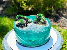 Ocean Cakes, Beach Cakes, Cake Decorating Techniques, Cake Decorating Tutorials, Island Cake, Jello Cake, Gateaux Cake, Cake Trends, Fancy Cakes