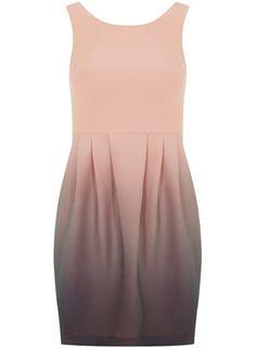 ombre mini dress