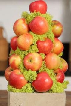 Looking for big impact with little effort? This easy apple topiary is one of the simplest centerpiec... - By the Editors of Southern Living