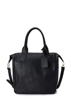 Luxe Faux Croc Carryall | FOREVER 21 - 1000063588